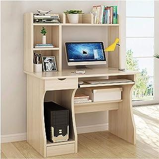 Yyl Bureau à Domicile Bureau en Bois Bureau d'ordinateur avec tablettes tiroirs PC de Bureau Table de Laboratoire Dépôt Ar...