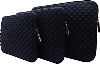AZ-Cover 10.1-Inch Case Simplicity & Stylish Diamond Foam Shock-Resistant Sleeve (Black) For ASUS Transformer T100TAF-B12-GR 2 In 1 10.1 Inch Touchscreen Display Laptop + One Capacitive Stylus Pen