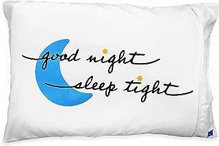 DryZzz, The Pillowcase for Wetheads Two-Sided Towel/Pillowcase, Standard (Good Night Sleep Tight)