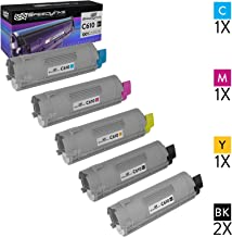 Speedy Inks Compatible Toner Cartridge Replacement for Okidata C610 (2 Black, 1 Cyan, 1 Magenta, 1 Yellow, 5-Pack)