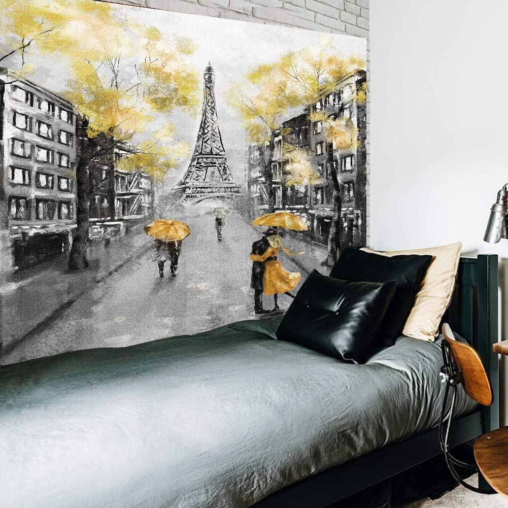 Wowzone Eiffel Tower Oil Painting Pairs European Tapestry L City Weekly 5 ☆ very popular update