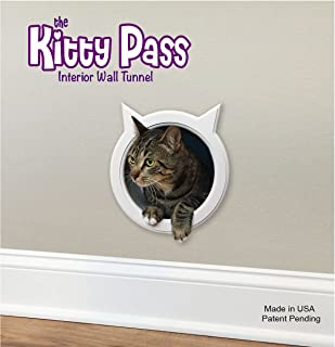 The Kitty Pass Wall Entry cat Door, Cat Door Tunnel, Cat Wall Door Pet Door Hidden Litter Box.n