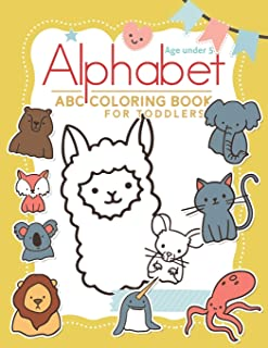Alphabet Coloring Book under 5: abc coloring book for preschoolers high-quality black&white Alphabet coloring book for kid...