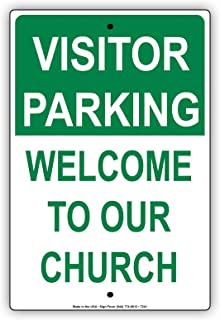 Visitor Parking Welcome To Our Church Reserved Guest Notice Aluminium Metal 8