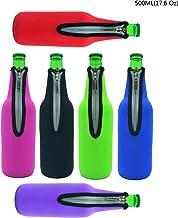 Case Wonder Refrigeradores de la Botella del Vino de Koozies de la Botella de Cerveza, Aquete De 6 17,6 Oz Neopreno Aislado Plegable Zipper Enfriador De Botellas para Guardar su Bebida Cerveza de la Bebida Enfriada por un Período de Tiempo Extendido (6 Colores)
