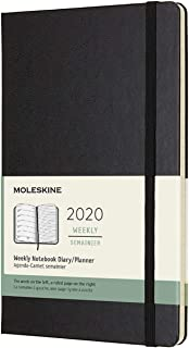 Moleskine Classic 12 Month 2020 Weekly Planner, Hard Cover, Large (5