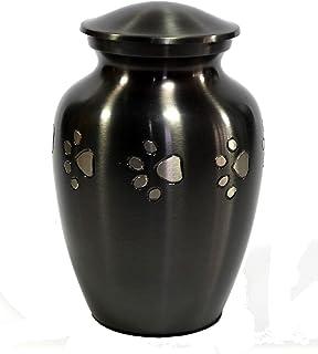 eSplanade Pet Cremation Urn Memorials urn Container Jar Pot | Brass Urn | Metal Urn | Burial Urn | Memorials Keepsake | Pe...
