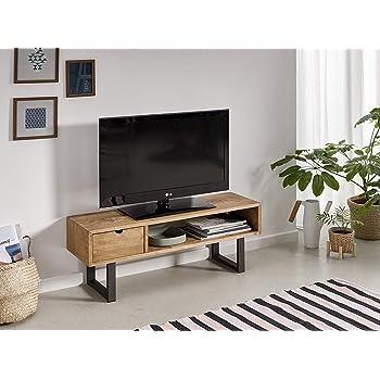vidaXL Madera Mango Maciza Mueble para TV 150x30x40 cm Centro Multimedia Salón: Amazon.es: Electrónica