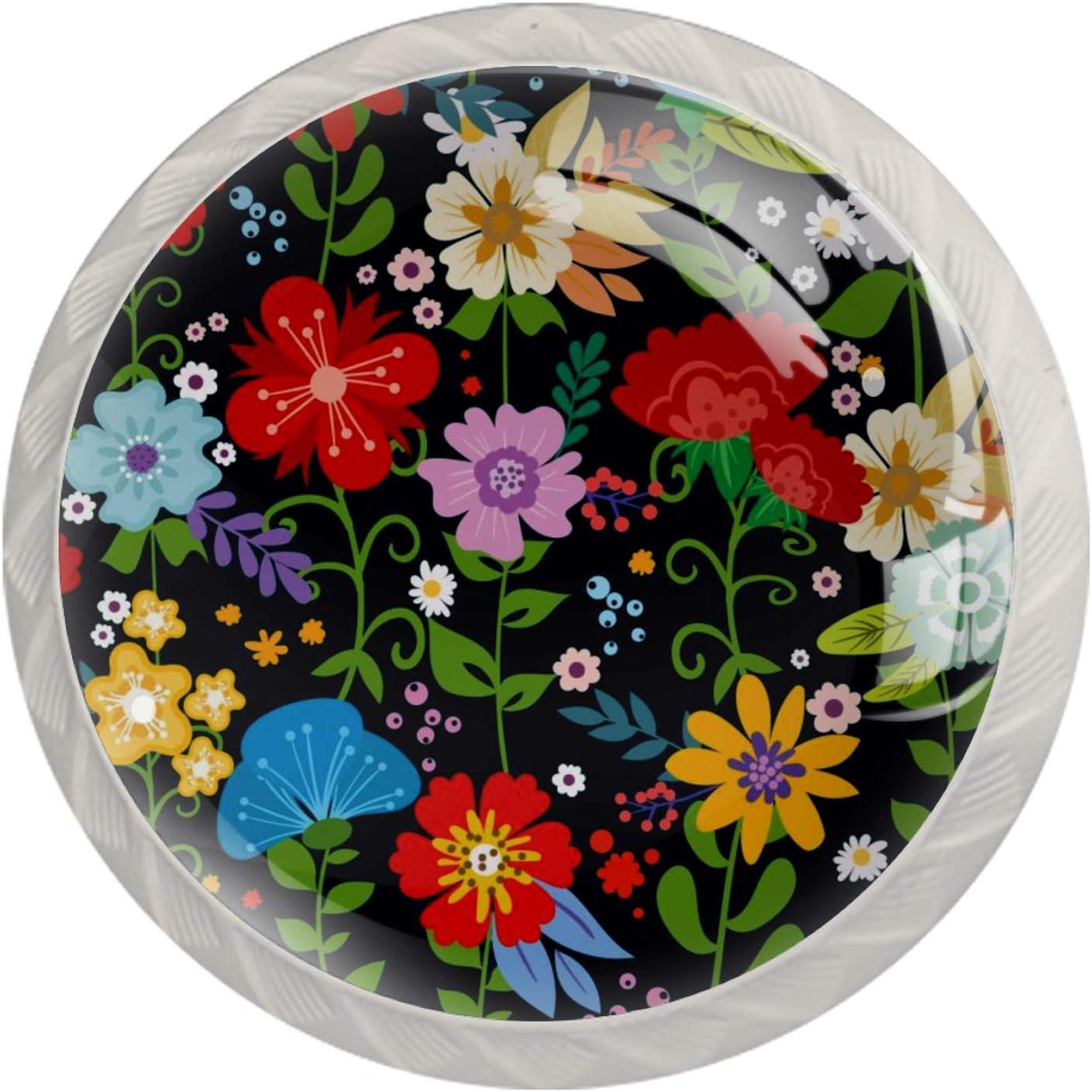 online shopping Lenergy Department store White Cabinet Knobs Flower Drawer Modern Tropical