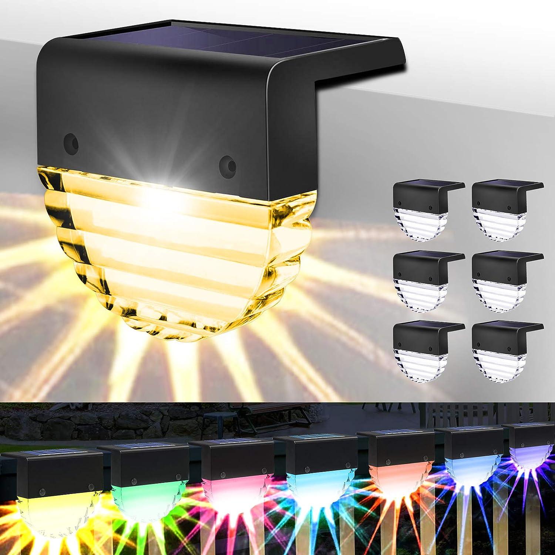 Solar Powered Max Credence 50% OFF Deck Lights 6 Charging Ste Waterproof Packs