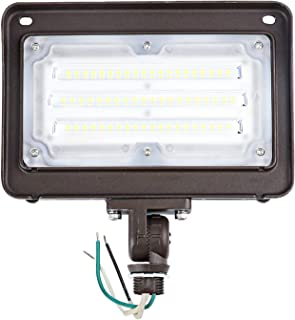 Cinoton LED Floodlight with Knuckle 50W (250W Equivalent) 5500 Lumen 5000K (Crystal White Glow) Outdoor Security Light 10...