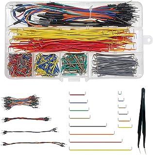 WayinTop Jumper Wire Kit, Preformed Breadboard Jumper Wire 14 Lengths Assorted + Solderless Flexible Breadboard Jumper Wir...