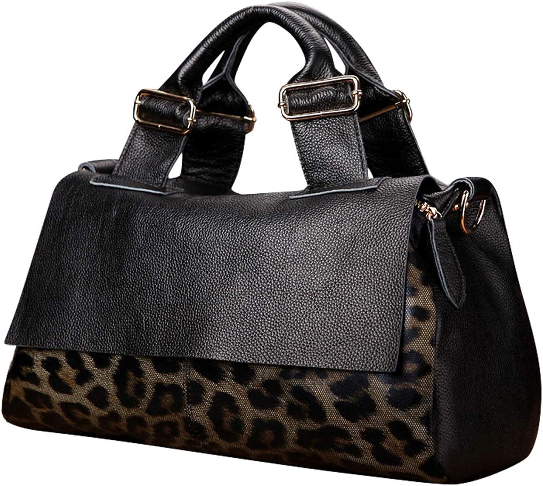 Direct store Leather Handbag Factory outlet Fashion Leopard Large Shoulder Bag Messenger