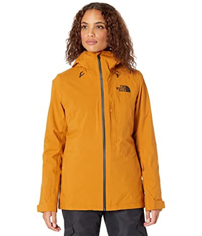The North Face Thermoball Eco Snow Triclimate Jacket (Timber Tan/TNF Black) Women