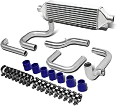 For Civic/Del Sol/CRX/Integra Silver Aluminum Front Mount Intercooler+Piping Kit