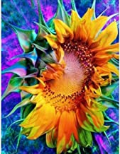 DIY 5D Diamond Painting Kit, Full Diamond Sunflower Embroidery Rhinestone Cross Stitch Arts Craft Supply for Home Wall Decor 11.8x15.8 inch