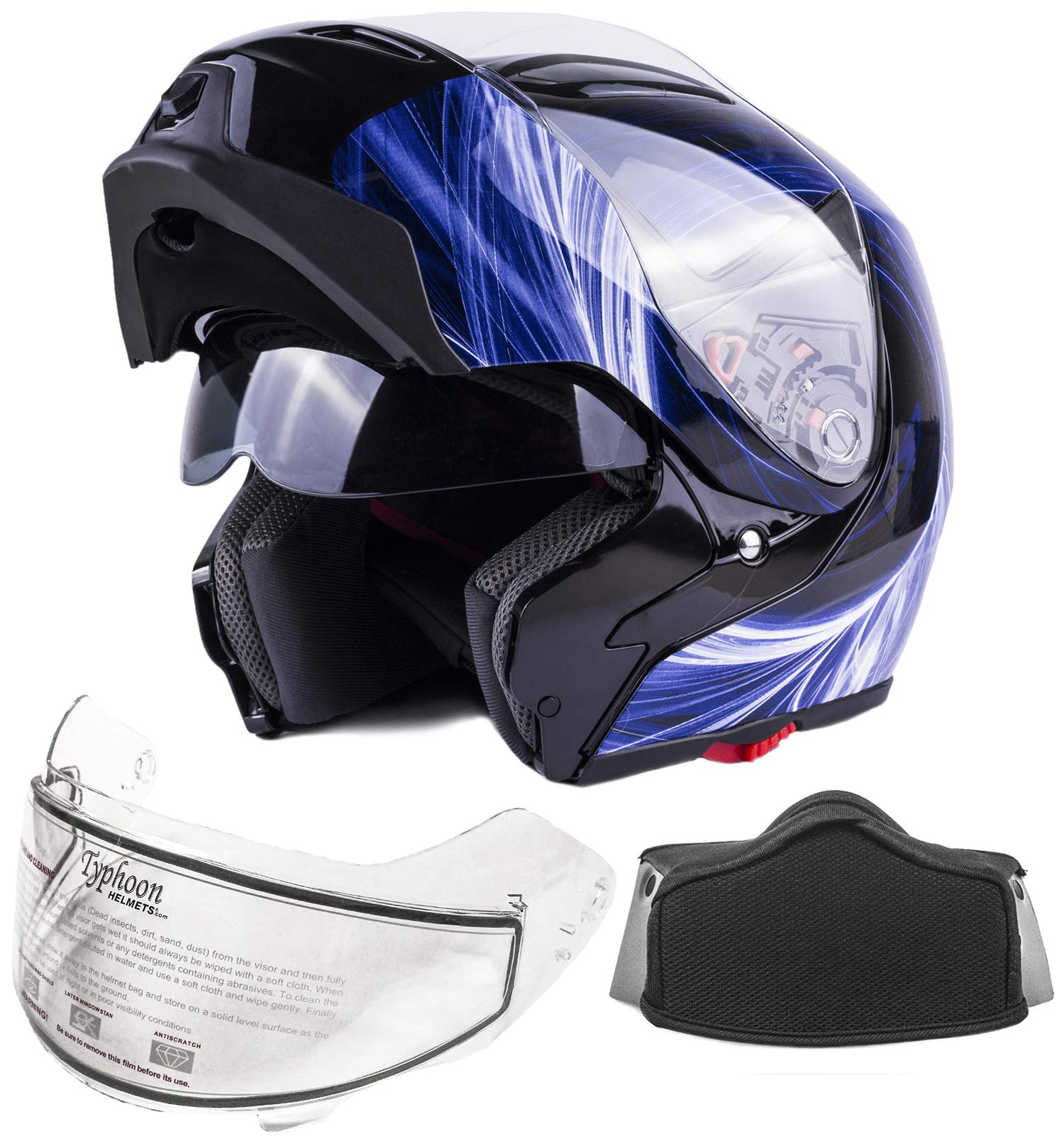 Adult Modular Snowmobile Flip up Helmet
