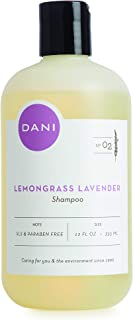 Natural Moisturizing Shampoo by DANI Naturals - Calming Lemongrass Lavender Aromatherapy - Organic Aloe Vera & Coconut Cleansers - Sulfate, Phthalate & Paraben Free - Vegan & Cruelty Free - 12 Ounces