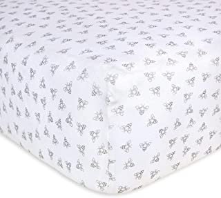 Burt's Bees Baby – Fitted Crib Sheet, Girls & Unisex 100% Organic Cotton..