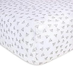 Burt's Bees Baby - Honeybee Print Fitted Crib Sheet, 100% Organic Crib Sheet for Standard Crib and Toddler Mattresses (Hea...