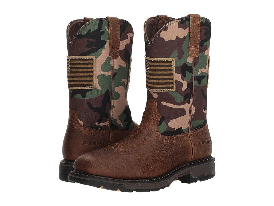 Ariat Workhog Patriot Steel Toe (Earth/Woodland Camo Print) Cowboy Boots