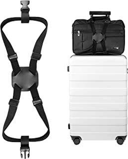 Luxebell Add A Bag Luggage Straps, Suitcase Belt Travel Accessories - Black - Bungee Strap