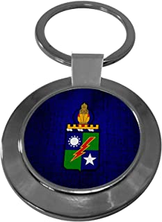 Premium Key Ring with U.S. Army 75th Ranger Regiment (Airborne), coat of arms