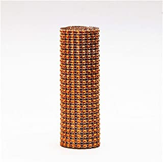 1 Yard/91.5cm Tulle Rolls Mesh Diamond Wrap Cake Tulle Roll Crystal Ribbons Party Wedding Decoration Party Supplies,Orange
