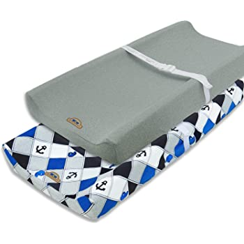 One Size Blue Whale Hudson Baby Unisex Baby Cotton Changing Pad Cover