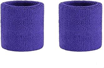 ONUPGO Headband Sports Sweatbands Wristbands Terry Cloth Striped Head Band/Wrist Band Set Athletic Exercise Basketball Headbands Moisture Wicking Sweat Absorbing Sweat Band