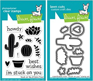 Lawn Fawn Stuck on You Stamp and Die Bundle - Two Items