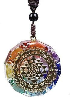 Buhui, collana con ciondolo in orgonite con geometria sacra Chakra energia, collana da meditazione