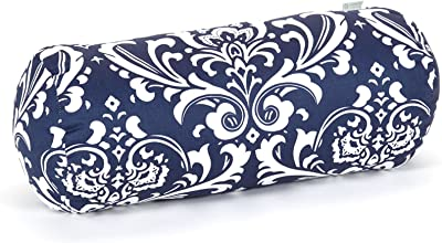 Majestic Home Goods Navy and White French Quarter Round Bolster