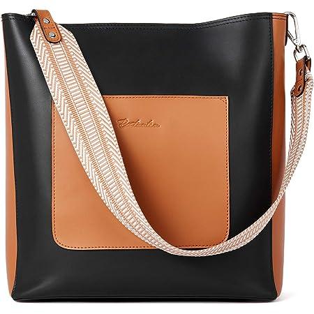 BOSTANTEN Leder Schultertaschen Damen Handtasche Designer Hobo Taschen Schwarz Beuteltasche groß Umhängetasche mit 2 Schulterriemen