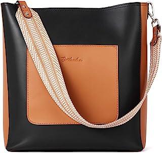 BOSTANTEN Leder Schultertaschen Damen Handtasche Designer Hobo Taschen Beuteltasche groß Umhängetasche mit 2 Schulterriemen