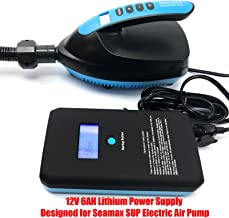 Seamax New Portable Lithium Power Supply Output 12V 6AH Max 200W Designed for Seamax SUP Pump