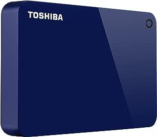 Toshiba Canvio Advance 4TB Portable External Hard Drive USB 3.0, Blue (HDTC940AL3CA)