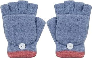 Soft Gloves Kids Girls Boys Winter Gloves Mitten Solid Color Full Finger Gloves with Warm Mitten Cover