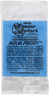 Wonder Wafers 25 CT Individually Wrapped Aqua Frost Air Fresheners (Formerly Blue Ice)