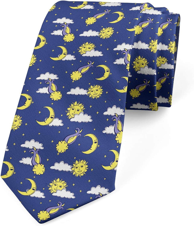Lunarable Men's Tie, Night Sky Comets Cloud, Necktie, 3.7