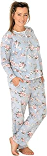 Milkbar Maternity & Nursing Pajamas & Sleepwear | Breastfeeding Clothing | Two-Piece Winter Pajama Set | Floral + Lace