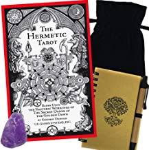 Hermetic Tarot Deck Gift Set with Bag, Amethyst, & Journal With Pen