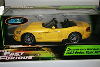 2003 Dodge Viper SRT-10 Convertible in Yellow Diecast 1:18 Scale From