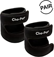 """Cho-Pat Dual Action Knee Strap (Pair) – Provides Full Mobility & Pain Relief for Weakened Knees – Black (Medium, 14""""-16"""")"""