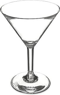 Carlisle 4362707 Liberty Polycarbonate Martini Glass, 8-oz. Capacity, Clear (Case of 24)