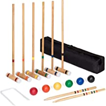 Best Choice Products 32-Inch Croquet Set w/ 6 Mallets, 6 Balls, Wickets, Stakes and Storage Bag
