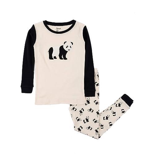 d5339f3e9827 Leveret Kids Christmas Pajamas Boys Girls   Toddler Pajamas Moose Reindeer  2 Piece Pjs Set 100