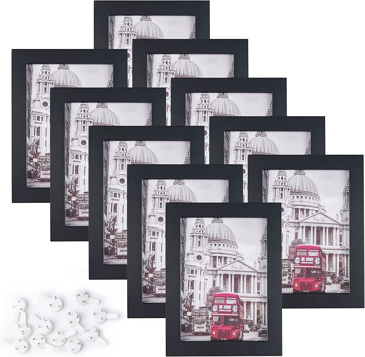 Charein 5x7 Picture Frame Set of wood 10 Tabl for Made Nashville-Davidson Mall New popularity solid