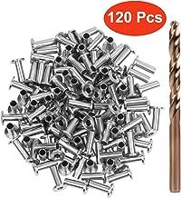 Blika 120PACK Stainless Steel Protector Sleeves for 1/8