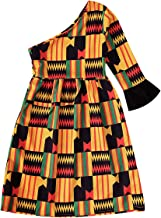 GRNSHTS African Dresses for Baby Girls Toddler Kids Print Long Sleeve Romper Bodysuit Boho Clothes + Hair Band